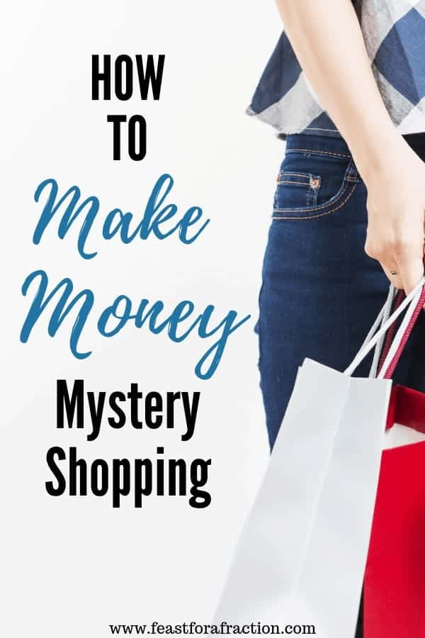 """woman holding shopping bags with title text """"How to Make Money Mystery Shopping"""""""