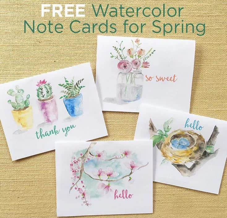 watercolor painted notecards