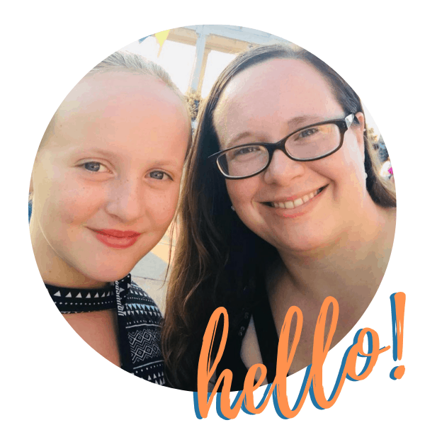 """sarah and brooklyn selfie with text overlay """"hello!"""""""