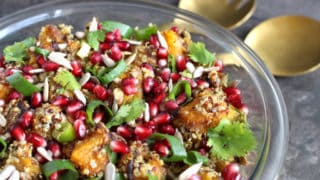 Moroccan Spiced Roasted Pumpkin Quinoa Salad