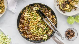 Asian Crack Zoodles with Beef