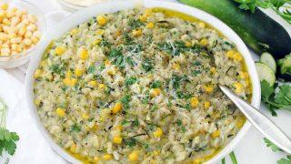 Sweet Corn and Zucchini Risotto