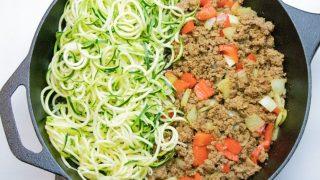 Ground Beef Zucchini Noodles