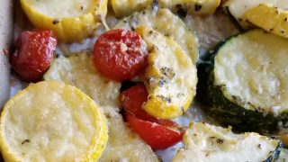Parmesan Roasted Zucchini and Tomatoes