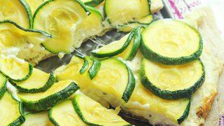 3 Cheese Zucchini Pizza Recipe