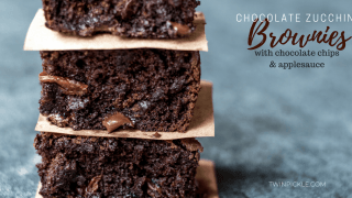 Chocolate Zucchini Brownies with Applesauce