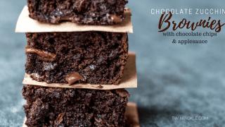 Chocolate Zucchini Brownies with Applesauce