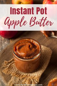Instant Pot Apple Butter (with free printable canning label!)