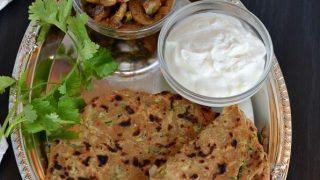 Spiced Zucchini Paratha