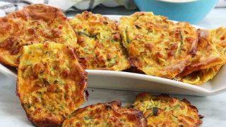 Cheesy Baked Zucchini Fritters