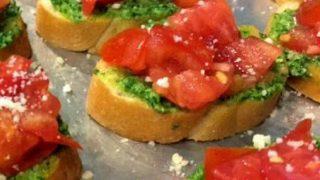 Kale Pesto Bruschetta