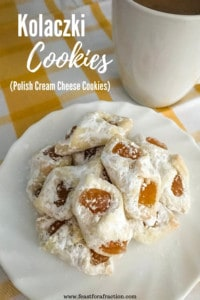 Kolaczki Cookies (Polish Cream Cheese Cookies)