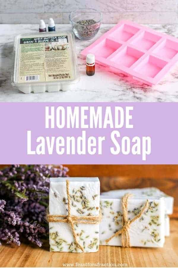 Homemade Lavender Soap Feast For A Fraction