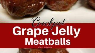 Meatballs with Grape Jelly and Chili Sauce Crockpot Recipe