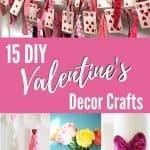 collage image of DIY Valentine's decor crafts