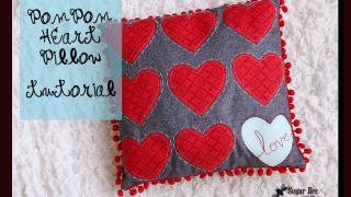 Pom Pom Heart Love Pillow