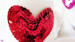 Valentine Sequin Candles
