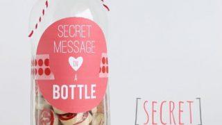 Message in a Bottle Valentine