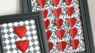 3D Heart Framed Art
