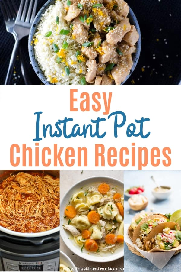 collage of images of chicken instant pot recipes