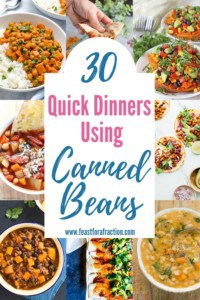 Quick Dinners Using Canned Beans