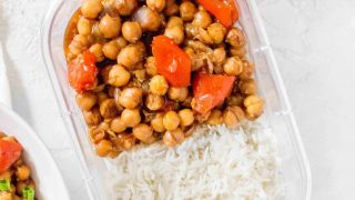 Instant Pot Kung Pao Chickpeas with Rice
