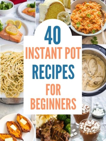 collage of instant pot recipes for beginners
