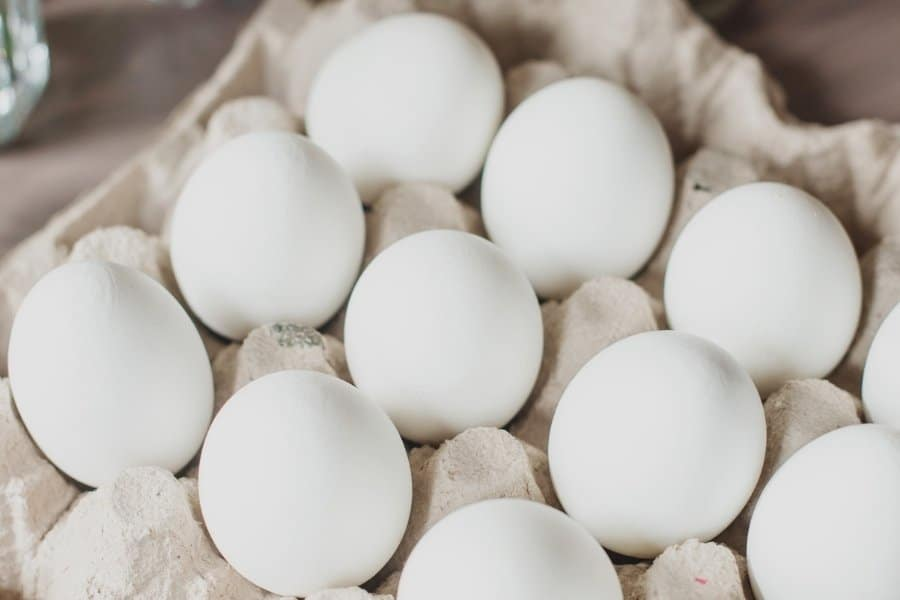 eggs in cardboard egg crate