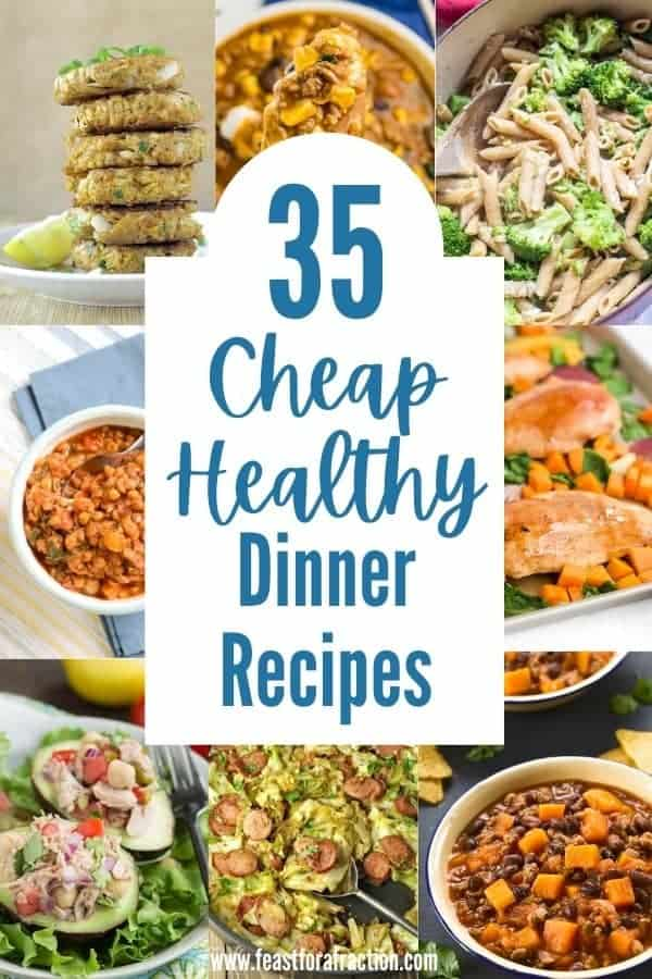 collage of cheap healthy dinner recipes