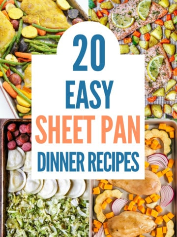 collage of easy sheet pan dinner recipes