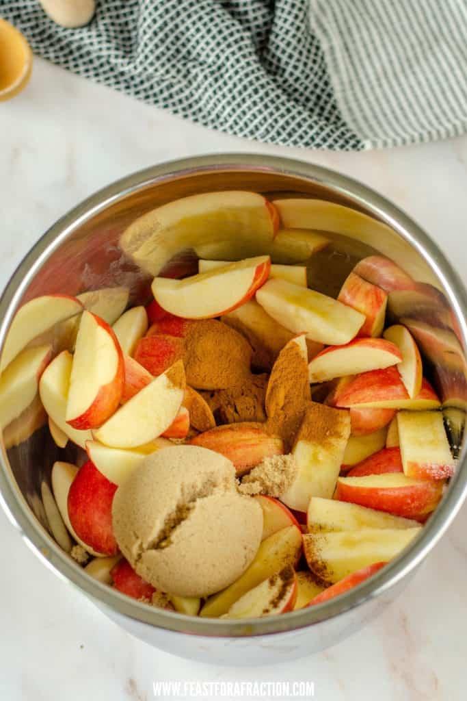 instant pot apple butter ingredients in instant pot liner